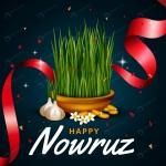 طرح کارت تبریک عید نوروز رئال با فرمت وکتور