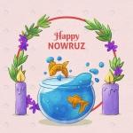 کارت تبریک نوروزی با فرمت وکتور