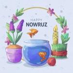 کارت تبریک عید نوروز با فرمت وکتور