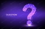 علامت سوال با طراحی پالی گانی