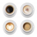 فنجان قهوه با فوم، اسپرسو، لاته