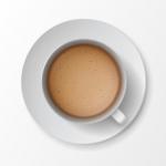 وکتور فنجان کاپوچینو با کیفیت رئال