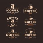 لوگو طرح قهوه با سبک رترو