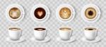 مجموعه فنجان قهوه، لاته، اسپرسو، کاپوچینو