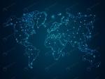 ابسترکت نقشه جهان با فرمت وکتور